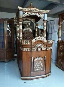 mimbar masjid kubah kaligrafi bagus
