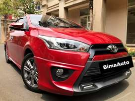 Toyota Yaris S TRD AT 2015 Red On Black Perfect Condition