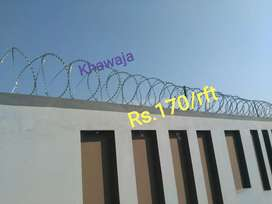 Razor Wire complete installation . No more charges