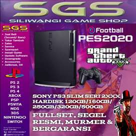 Sony ps3 slim 120 gb fulgame good condition siap pake like new garansi