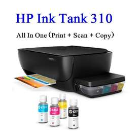 Printer HP Ink Tank 310 print scan copy garansi 1 tahun