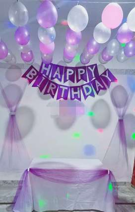 Purple & Silver Glitter Birthday Banner For sale Rs 900 only