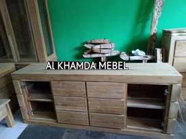 Ready Buvet Tv Minimalis Bahan Kayu Jati Monggo @373