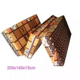 Kasur lipat inoac, mudah,murah,praktis ukuran(200x160x15cm)