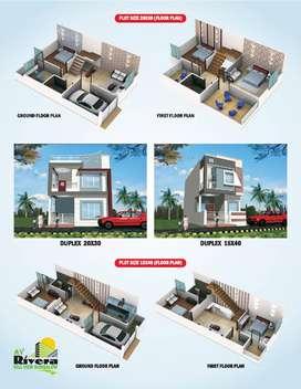 duplexes are available at nayapura on 600 sqft plot