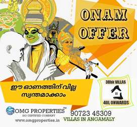 OUR ONAM GIFT - UNBEATABLE PRICE FOR 3BHK Villas in ANGAMALY
