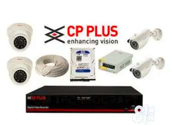 Security Bazaar Brand New Cp plus Hikvison cctv 2,4,8, channel set up 0