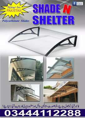 Poly carbonate Awnings PC sun shades, Italian style better than fiber