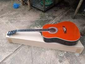 Gitar akustik elektrik jumbo tanbess ne baru