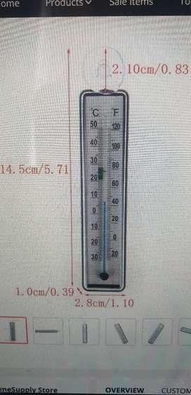 Aquarium glass thermometer