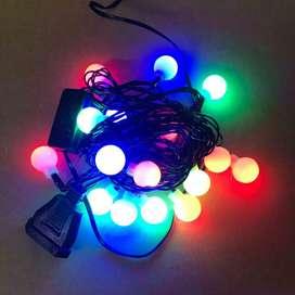 LAMPU NATAL HIAS / LAMPU TUMBLR LED RAINBOW MOTIF BOLA SALJU / ANGGUR