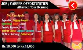 Urgent hiring for male and female employees for Ground Staff .