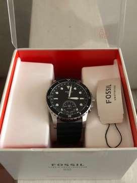 Jam Tangan Fossil Hybrid Smartwatch FB-01 Black Silicone (ORIGINAL)
