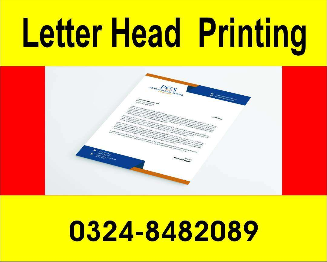 Letter Head Printing Services available