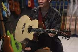 Gitar akustik natural coleclark