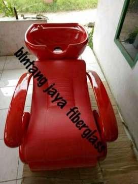 kursi keramas salon jok merah rangka merah jok garis