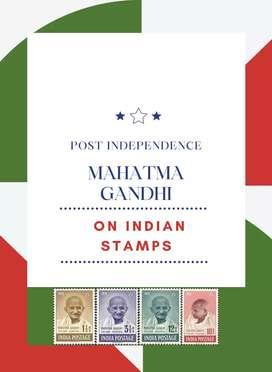 Gandhi on India stamps album post independent