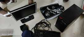 Dell monitor  intex cpu