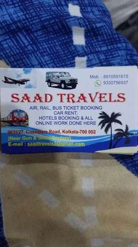 Saad travels flight train and cart rent