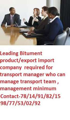 Leading Bitument product/export import company  required for transport