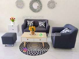 Sofa minimalis modern meja kayu