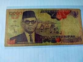 Uang Kertas 10000rb Rupiah Hamengku Buwono