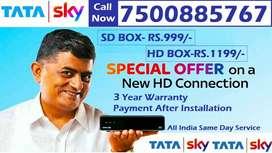 Just Rs.999 COD- Tata Sky DTH Dish Airtel Videocon Tatasky D2H DishTV