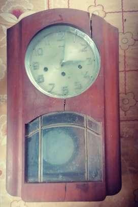 Antique German model (3 in 1)wall mount mechanical clock model HERMLE