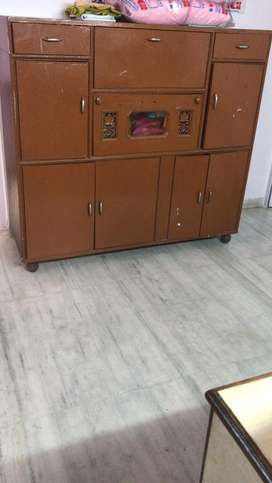 Well maintained,very strong and heavy ply wood cupboard for sale.