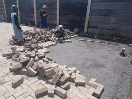 Paving block pres bata tempel expose terakota batu merah roster loster