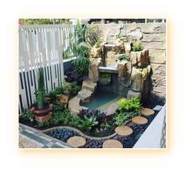 •Taman Bagus di Batam Kota• Borongan Jasa Desain  Taman & Kolam GR/Min