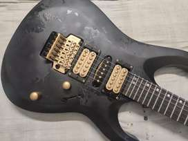 Cort X 250 electric guitar with custom grunge and scratch texture