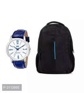 Combo offer laptop bag with watch