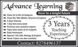 Advance learning tution center