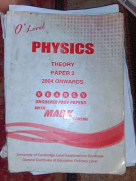O level Physics yearly unsolved past papers