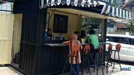 franchise usaha es kopi kekinian bisa dicicil 6bln dpt booth container