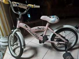 Sepeda pink anak roda 4