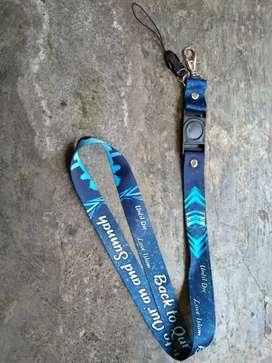Souvenir Tali Lanyard Tali ID Card Gantungan Kunci Sablon Print Custom