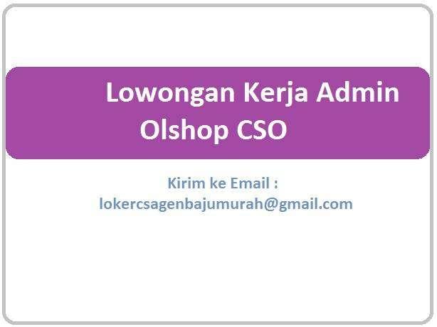 Admin Olshop Marketing Sales 0