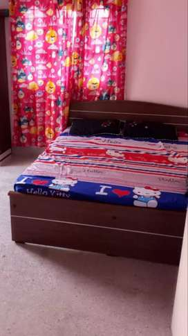Bed with cot