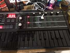 Keyboard Synthesizer Microkorg MK2 vocoder rare black edition mulus