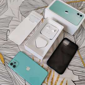 Iphone 11 128gb Green Fullset Original Like New Siap Pakai No Minus