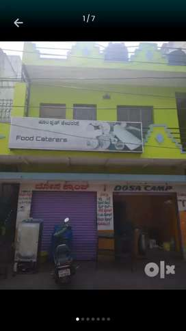 2shops attached 1bhk is available for rent in jayanagar 4th t block