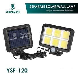 Lampu Solar 120 LED 3 Mode Cahaya + Panel Surya