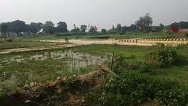 Satrikh road facing NH230 and 14 km away from Chinhat Lucknow.