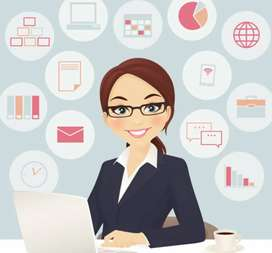 Lady staff needed for office work