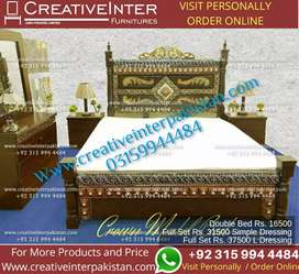 Double Bed set Amazingoffer sofa dining center table coffee cupboard