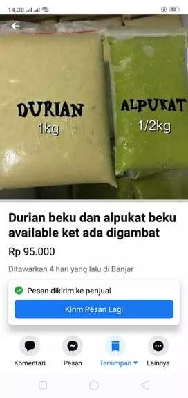 Frozen durian medan