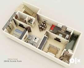 Maximum space utilization 2 BHK Builder Floor  @ Sale In  Adarsh Nagar