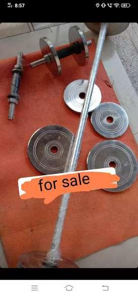 Dumbells plates rod